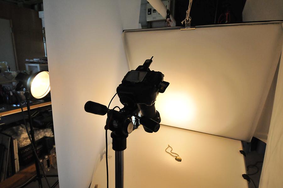商品撮影の撮影風景